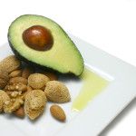 avocado, nuts: healthy fats